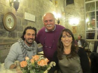 Gregorio e Giusy D'Antuono con Enzo Manniello