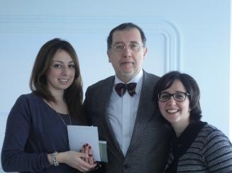 Fabrizia Brunetti e Maria Consilia Ruotolo con Alberto Presutti