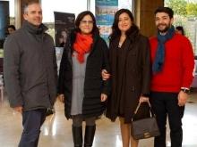 Dirigente Rosa Cirillo dell'Istituto San Paolo di Sorrento con il docente Luigi Mastellone  e Luca Cioffi