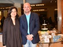 Carolina Ciampa con Roberto Arpaia rappresentante Crispo Confetti  Sponsor Idee Sposi 2016 Sorrento