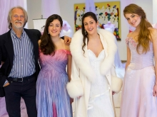Jasha Atelier modelle Aurora Esposito Marina Sessa Tina Pollio con il fotografo Gianfranco Capodilupo