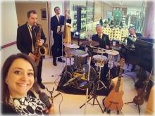 """MG swing band"""" con Mario Generali, Paola Forleo, Vincenzo di Somma, Alfredo Intagliato, Catello Imparato"""