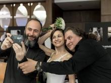 Umberto Astarita Fotografo con Claudio Celentano e la meravigliosa nipote Stefania Oteri
